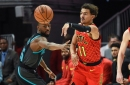 Hornets leave defense at home, lose to Hawks, 124-123