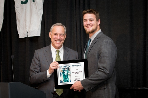 Michigan State football hands out awards; Kenny Willekes named MVP