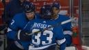 Jets' Dustin Byfuglien shaken after hard collision with Jamie Oleksiak