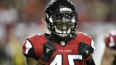 Deion Jones practices with Falcons' first-team defense