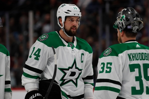 Stars remove monkey from their back byscoring power play goal against the Flames