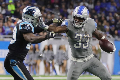 Detroit Lions' Kerryon Johnson, 2 others out for Sunday's game vs. Rams