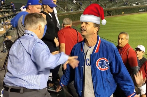 'No Fighting In The Bleachers: A Cubs holiday parody song