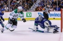 Stars rally in 3rd to edge struggling Canucks