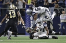 Michael Thomas is very upset that Jourdan Lewis and the Cowboys got the best of him and the Saints
