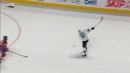 Sharks' Braun forces turnover, wires shot past Price