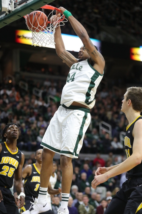 Michigan State basketball big men post career games to demolish Iowa