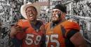 Broncos defenders Von Miller and Derek Wolfe help kids shop for toys