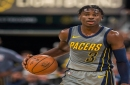 Indiana Pacers' Aaron Holiday swaps jersey with older brother after win