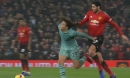 Marouane Fellaini fouls Matteo Geundouzi by pulling his hair during Man Utd v Arsenal