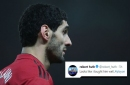 Manchester United midfielder Marouane Fellaini mocked by Robert Huth over Arsenal incident