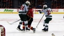 Dumba takes out Backlund with massive hit to end game