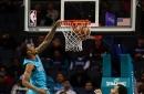 Hornets withstand late Nuggets push, win 113-107