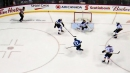 Jake Allen makes old-school save point-blank on Ehlers