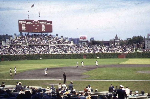 Wrigley Field historical sleuthing: Brown scoreboard edition
