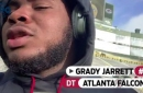 Falcons DT Grady Jarrett is ready to brave the cold at Lambeau Field