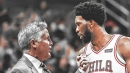 Joel Embiid is frustrated by Brett Brown forcing him on the perimeter