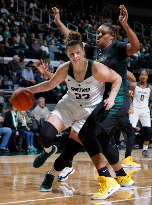 Jenna Allen leads charge as Michigan State women's basketball upsets No. 3 Oregon