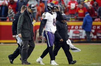 Jackson sustains ankle injury in OT loss to Chiefs