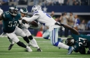 Cowboys RB Ezekiel Elliott penalized for lowering head against Eagles