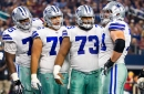 Cowboys RG Zack Martin goes down with knee injury against Eagles, is questionable to return
