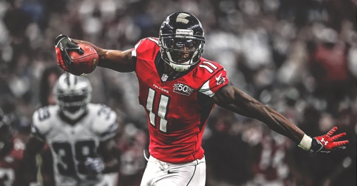 Falcons WR Julio Jones becomes first player in NFL history to get 1,400 receiving yards in five consecutive seasons