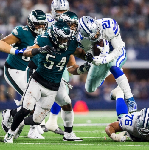 Cowboys have last laugh but Eagles linebacker Kamu Grugier-Hill doesn't regret choke comment