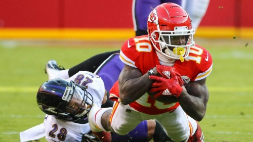 Chiefs WR Tyreek Hill says his foot injury is 'bad'