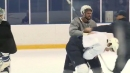 Blues' Bortuzzo and Sanford drop the gloves in practice