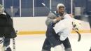Blues teammates Robert Bortuzzo, Zach Sanford fight at practice