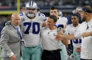 Jerry Jones: Zack Martin is day to day; Lee, Austin, Irving 'all have some probability of playing' against Colts