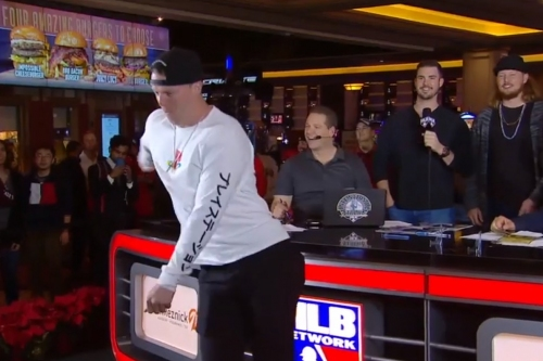 Brett Phillips shows off his Fortnite dance moves on MLB Network
