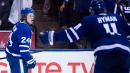 How do Maple Leafs shuffle players to make room for trades?