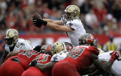 The Brees Leap: How the QB's goal-line leaps have become 'the most automatic' play for Saints
