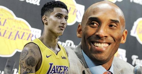 Lakers' Kyle Kuzma texted Kobe Bryant about over the backboard shot, Kobe reacts