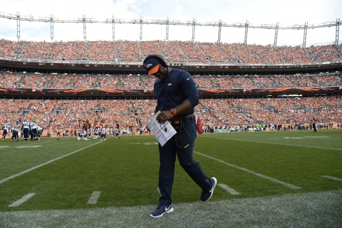 Kiszla: With Broncos on brink, Vance Joseph and Brandon Marshall try to hang on to their jobs