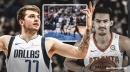 Video: Mavs' Luka Doncic blocks Hawks' Trae Young
