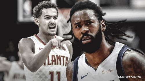 Video: Hawks guard Trae Young, Mavs center DeAndre Jordan disagree with double-technical foul