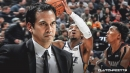 Heat coach Erik Spoelstra alludes Jazz' early struggle to 'outrageous' schedule
