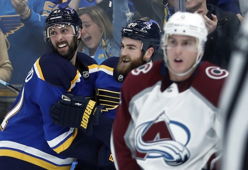 Avalanche fall to Blues on short-handed OT goal