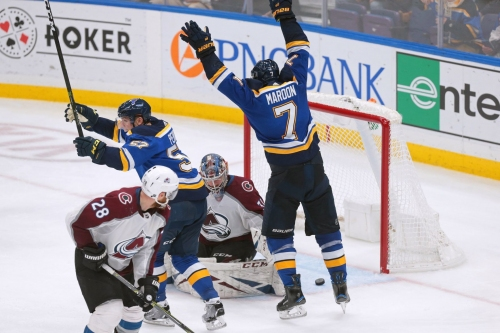 Blues rise to the challenge in win against Avalanche