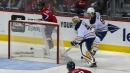 Hutton leaves Sabres' net, Connolly scores for Capitals