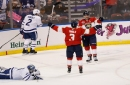 Barkov burns Leafs with hat trick as Panthers survive in OT