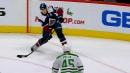 MacKinnon fires pass through Polak's feet, Rantanen scores
