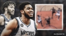 Video: Timberwolves guard Derrick Rose lobs it to Karl-Anthony Towns in transition