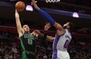 Heavy legs and tired brains snap the win streak and 9 other takeaways from Celtics/Pistons