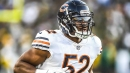 Bears LB Khalil Mack reacts to back-sacking Aaron Rodgers