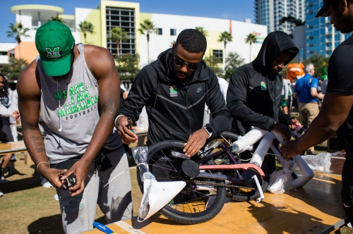 Herd builds bikes, bond with Tampa