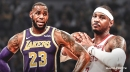 Lakers' LeBron James spotted dining with Carmelo Anthony in New York
