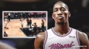 Video: Heat center Bam Adebayo gets called for traveling after thinking the quarter was over